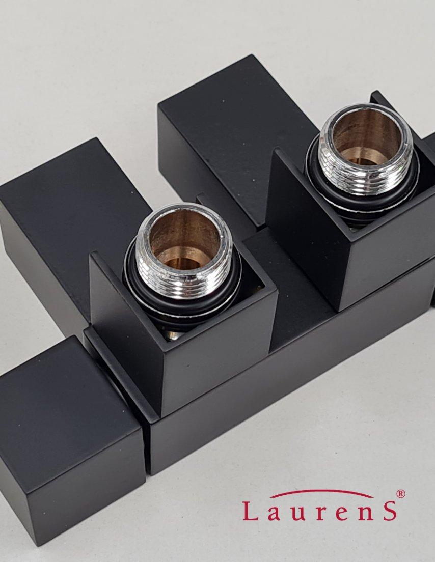 Mat zwarte radiatorkranen | Laurens Radiatoren