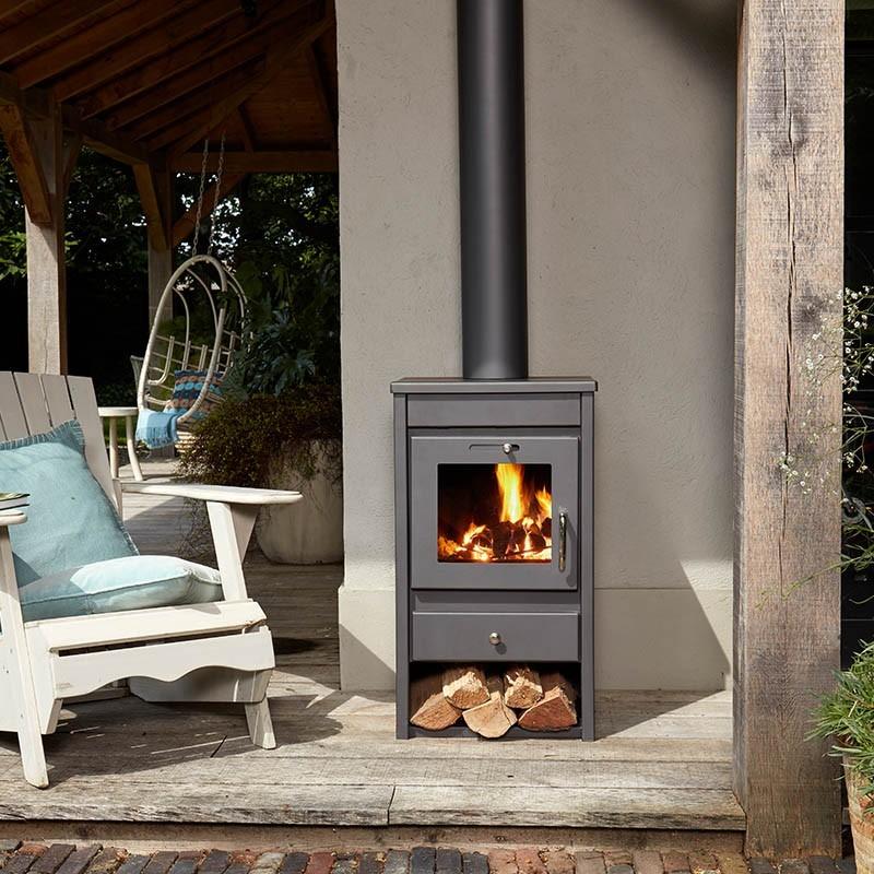 Livin' flame houtkachel Lund