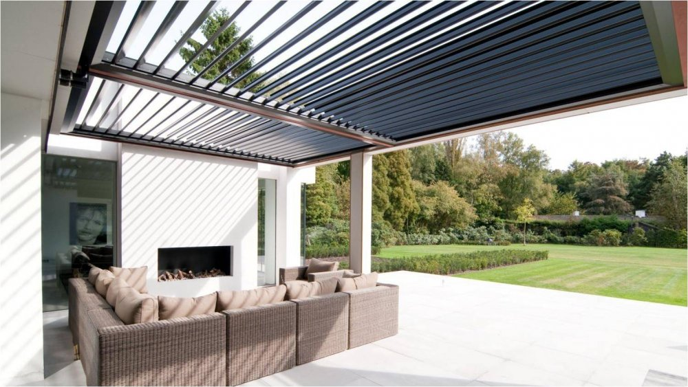 Livium louvredaken luxe terrasoverkapping product in beeld startpagina voor tuin idee n uw - Fotos terras ...