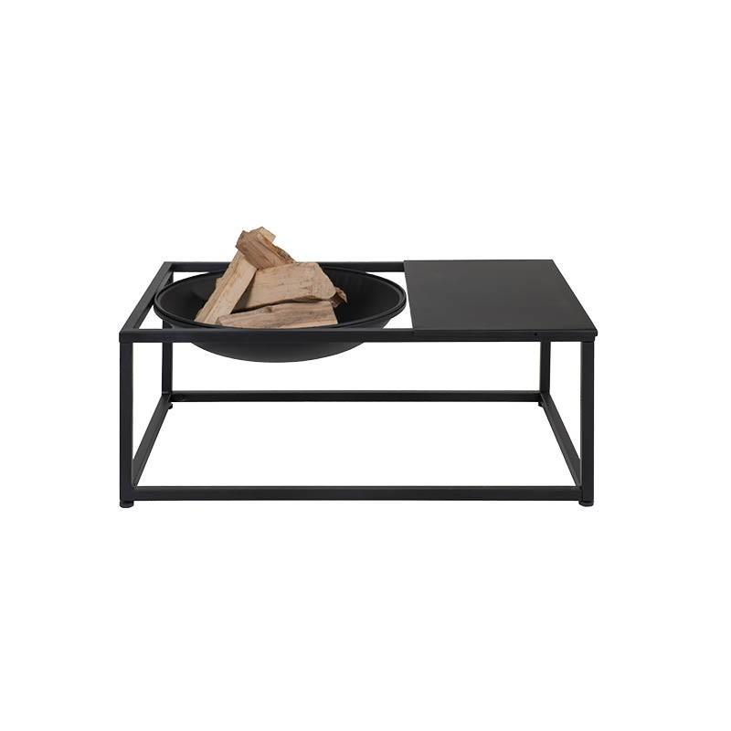 Luxe loungetafel met ingebouwde vuurschaal Endo | Livin' Flame