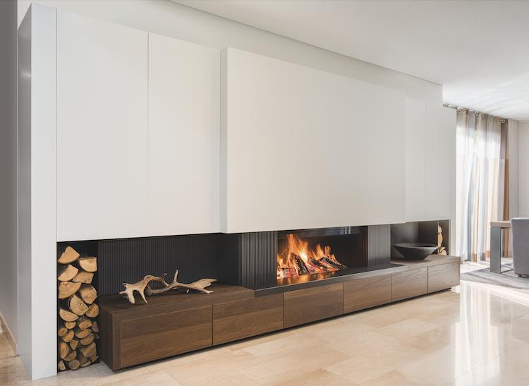 Moderne energiezuinige houthaard | M-design