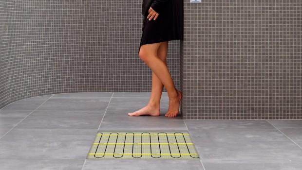 Elektrische verwarming voor badkamervloer