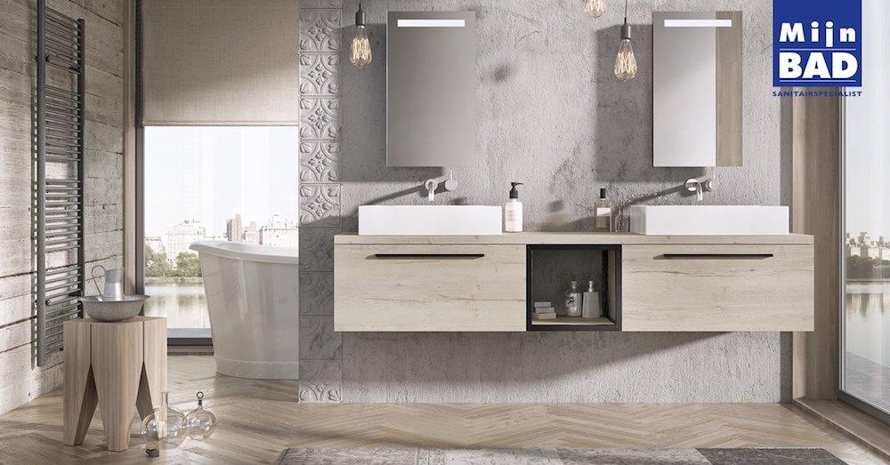 Badkamermeubel Met Kommen : Badkamer met dubbele wastafel product in beeld startpagina