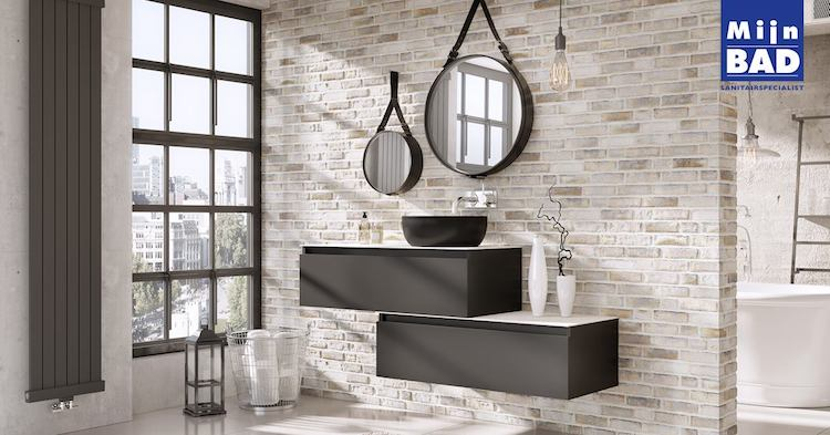 Industriële badkamer look