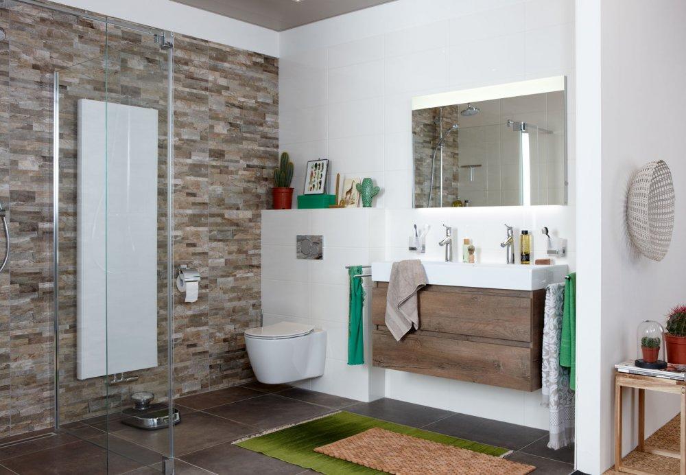 Baden moderne badkamer met natuurlijke uitstraling product in beeld startpagina voor - Moderne badkamer badkamer ...