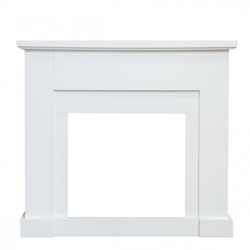 Moderne witte schouw Lavin | Livin' Flame