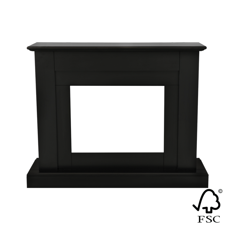 Moderne zwarte schouw Reinach | Livin' Flame
