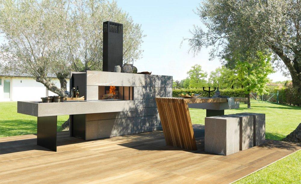 Modulnova outdoor buitenkeuken product in beeld - Barbecue esterno design ...