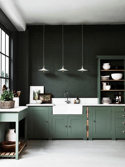 Neptune Suffolk keuken by Martin Zoon Interior Design stoer in groen