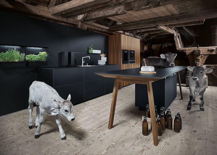 Mat Zwarte Keuken : Mat zwarte keuken met houtaccent product in beeld startpagina