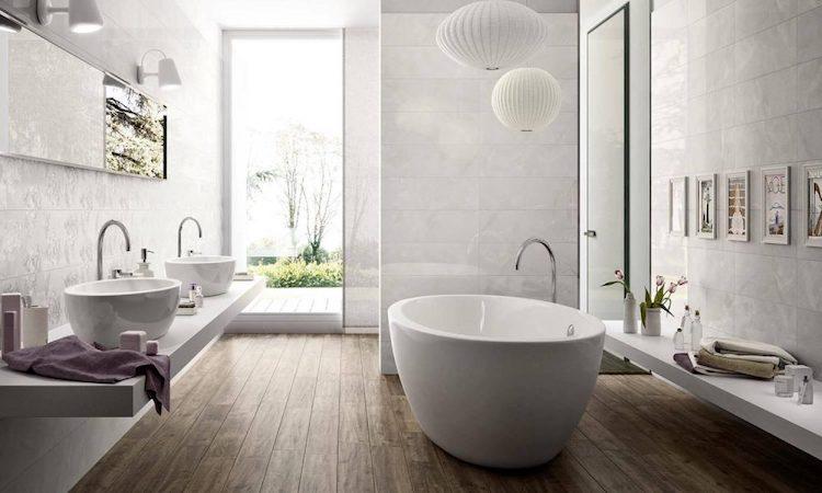 Tegels Houtlook Badkamer : Houtlook tegels voor de badkamer nibo stone product in beeld