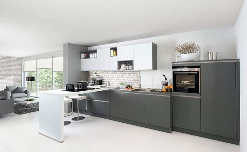 Keuken met gesatineerd veiligheidsglas