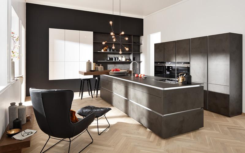Keuken uitgevoerd met echt cement