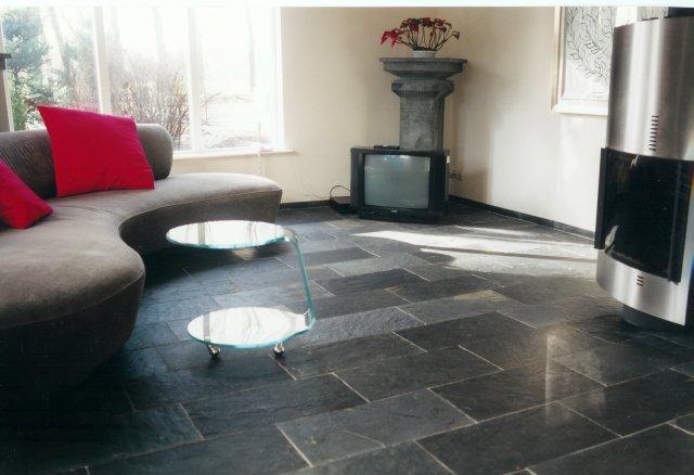 Norvold natuursteen vloertegel Black kwartsiet