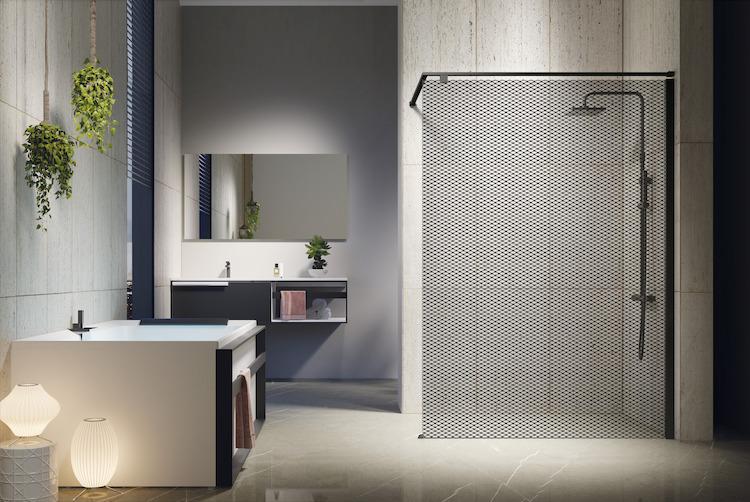 Kuadra H Design douchewand | Novellini