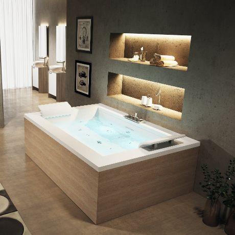 Rechthoekig bad voor twee personen | Novellini