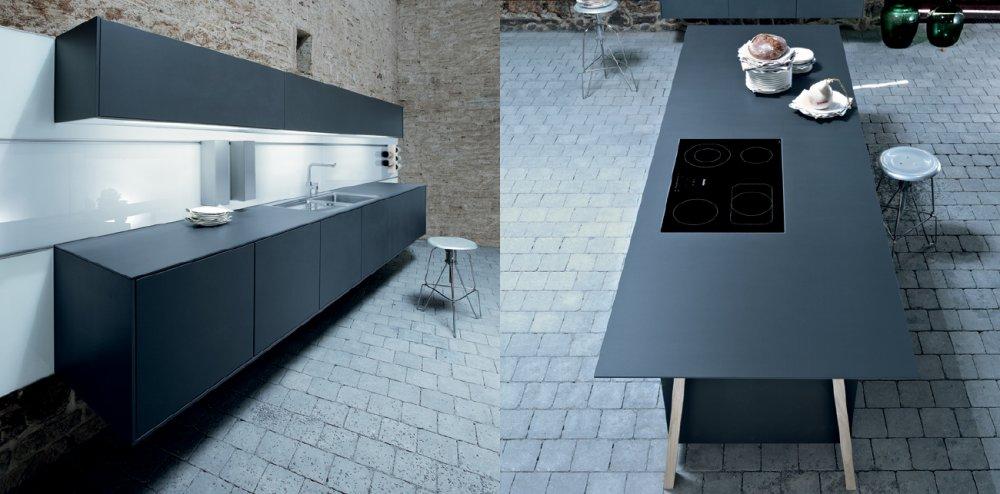 Donkerblauwe Keuken : next125 NX500 Lavazwart satijn wandhangend Product in