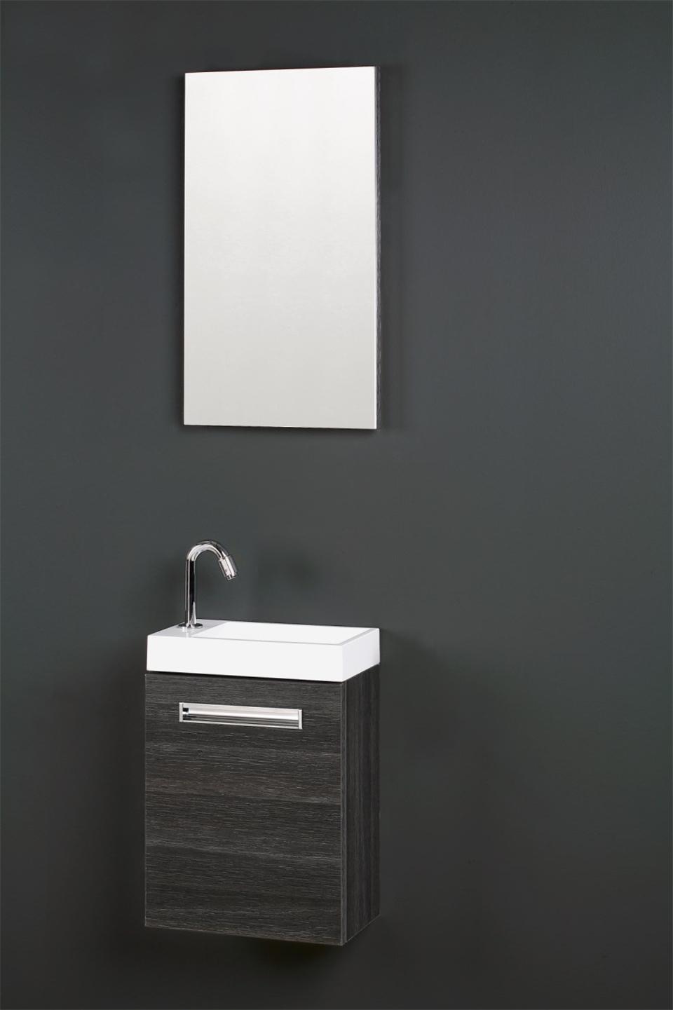 Thebalux toiletmeubel met wastafel global product in for Spiegel voor in de wc