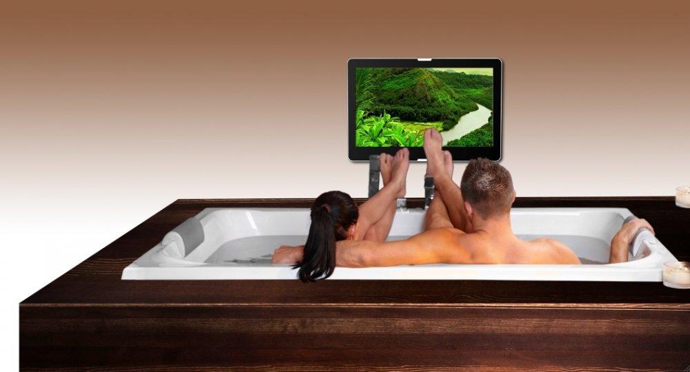 Badkamer led tv nooit meer naar een lege muur staren product in beeld startpagina voor - Deco tv muur ...