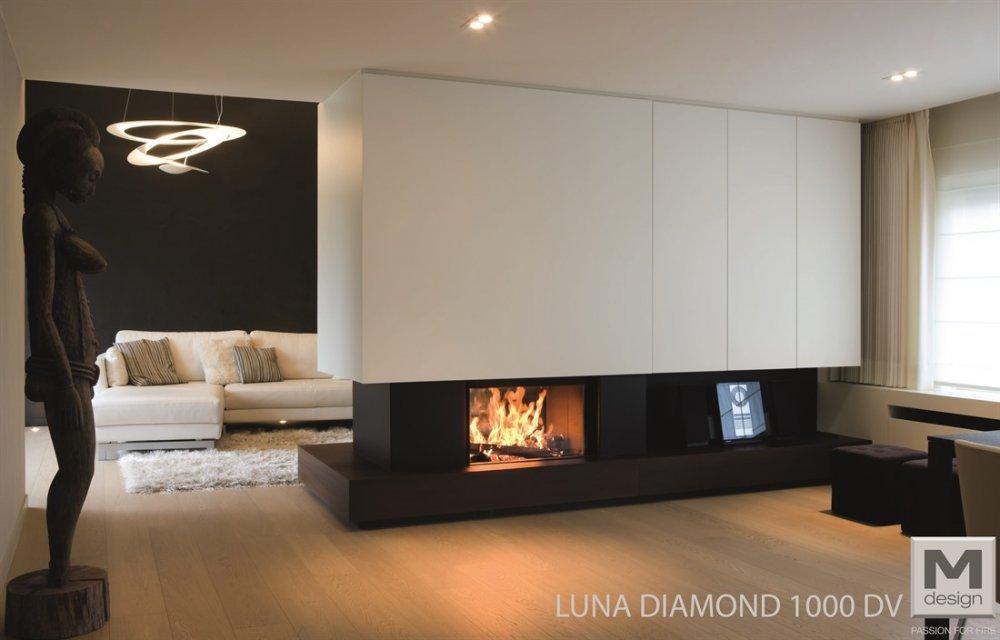 m design liftdeurhaard doorkijkhaard luna diamond product in beeld startpagina voor haarden. Black Bedroom Furniture Sets. Home Design Ideas