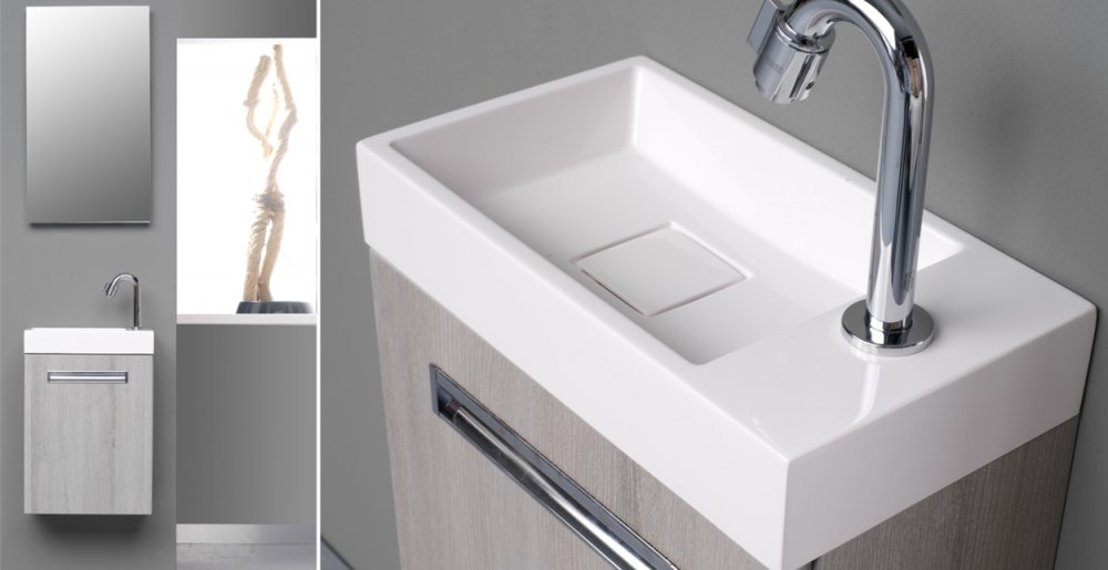 Kleine Wasbak Toilet : Landelijk toiletmeubel hout steigerhout keramiek modern