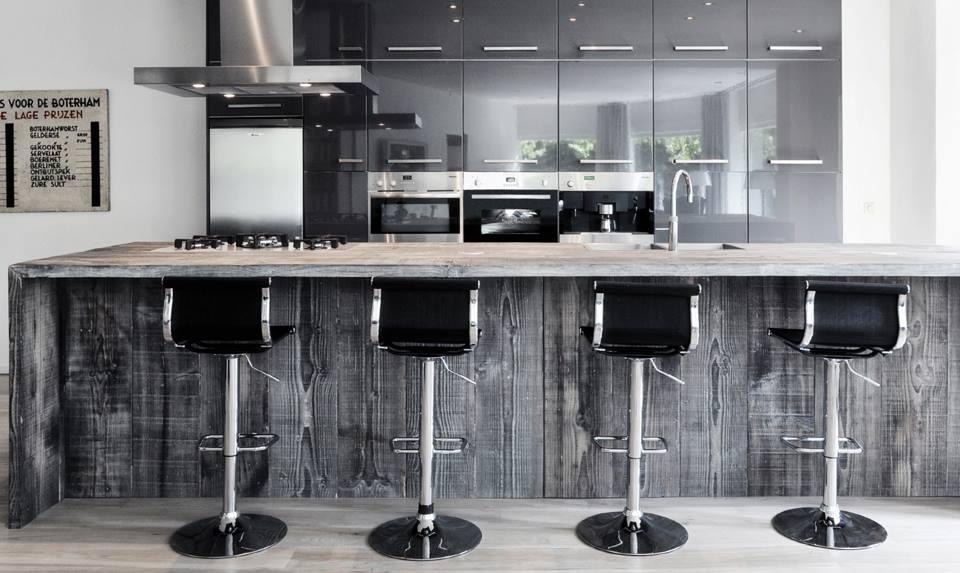 Restylexl barnwood keukens kookeiland product in beeld for Cuisine 5 metres