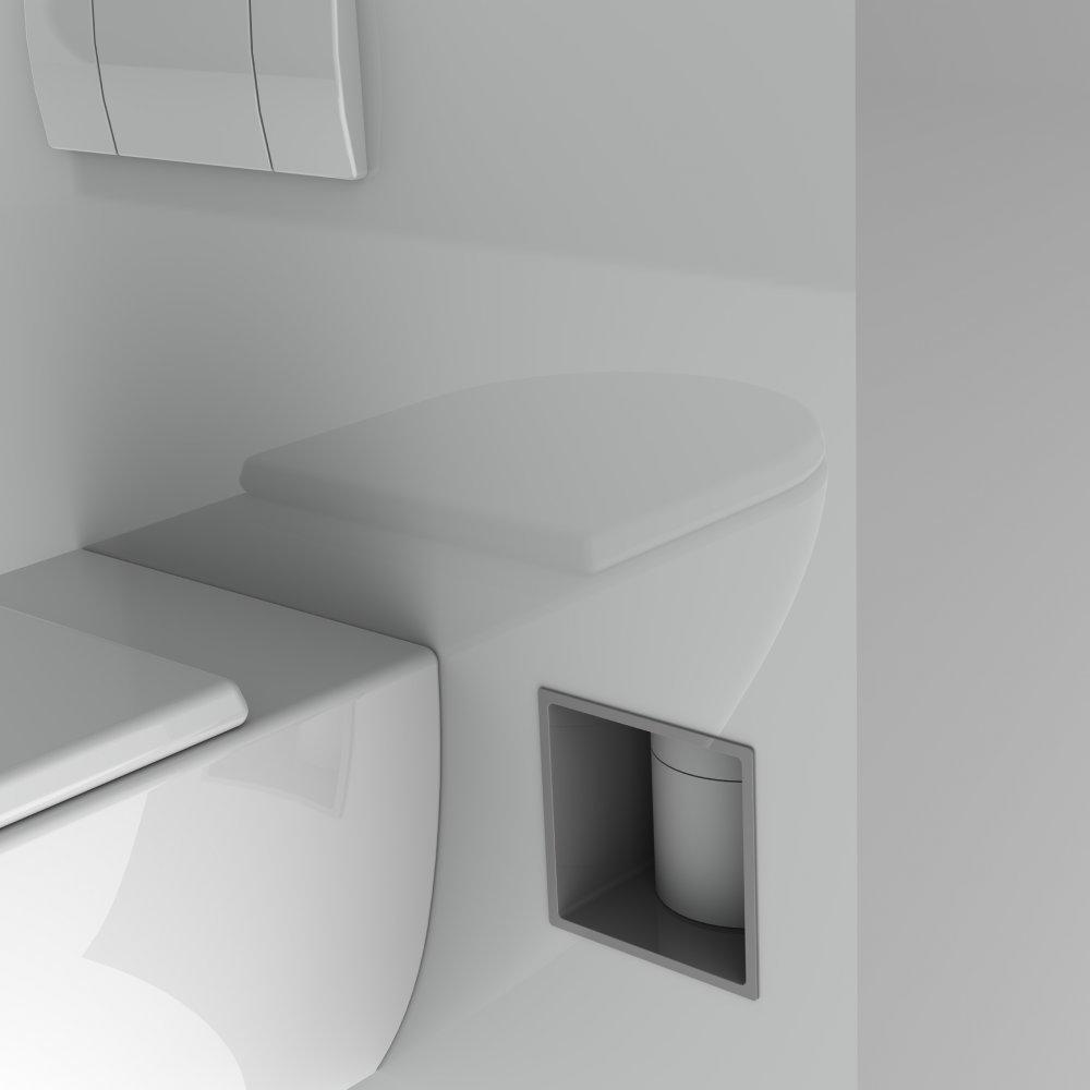 Stock4rolls 174 Inbouw Reserve Toiletrolhouder Voor 12 Rollen