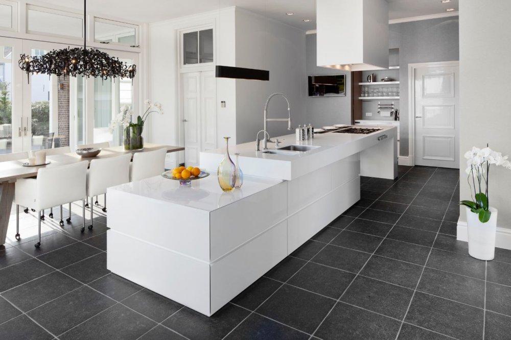 Uitbouw ontwerp keuken - Keuken witte lak ...