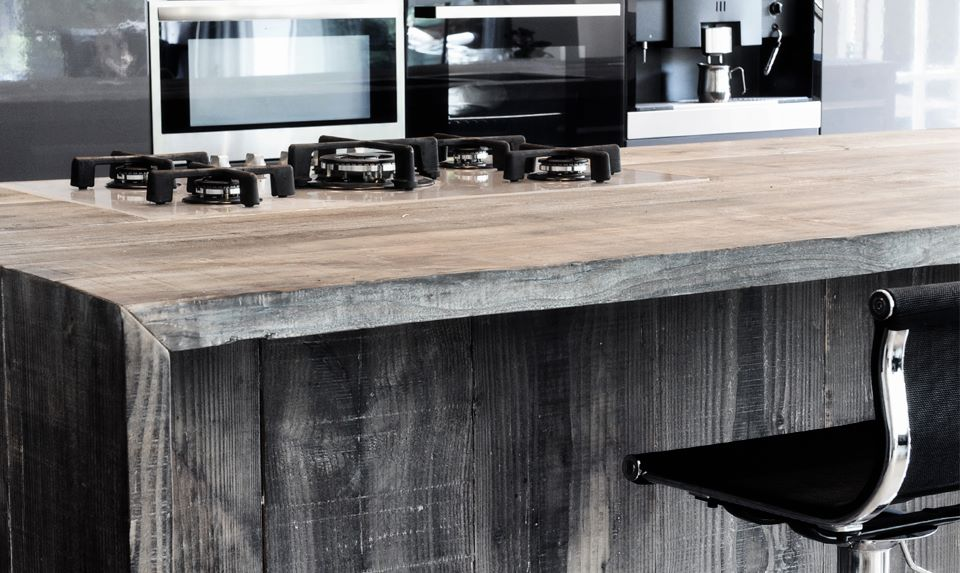 Restylexl barnwood keukens kookeiland product in beeld startpagina voor keuken idee n uw - Uitgeruste keuken met bar ...