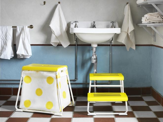 Ikea badkamer opstapje met opbergruimte GLOTTEN