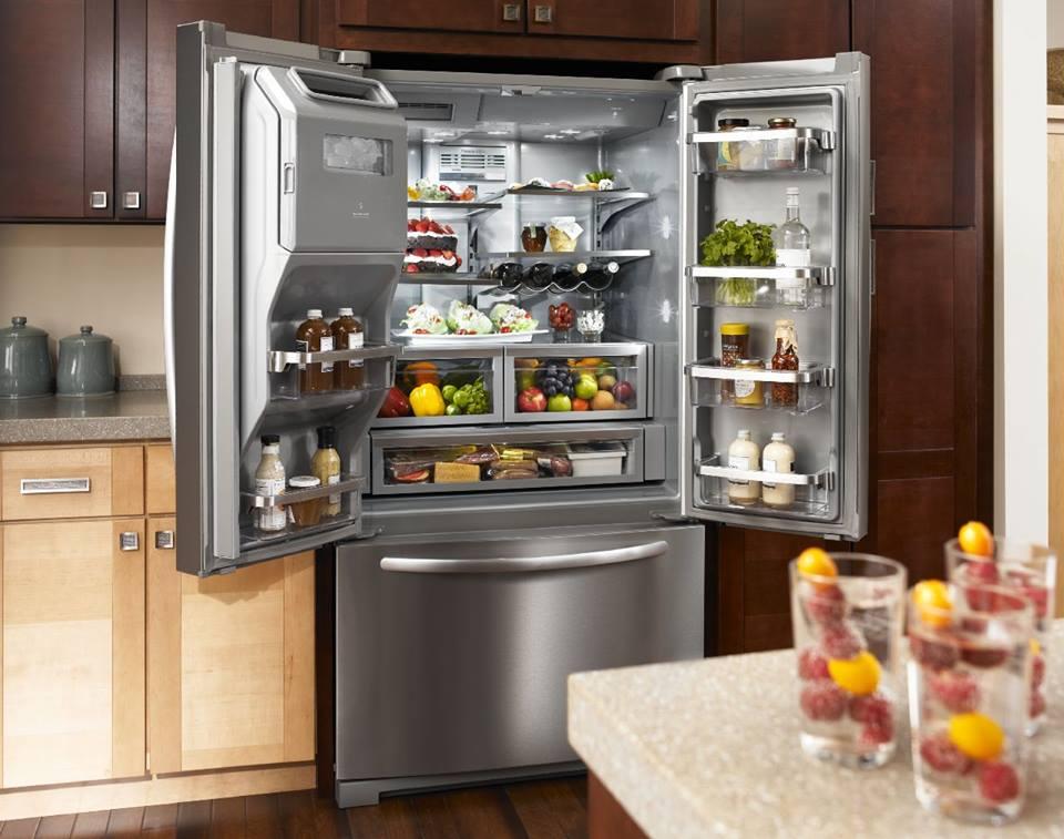 KitchenAid Amerikaanse 3 deurs koelkast   Product in beeld   Startpagina voor keuken idee u00ebn   UW