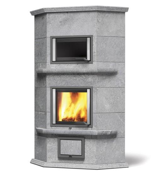 NunnaUuni Hestia Angolo Solo 1 hout hoekkachel met oven