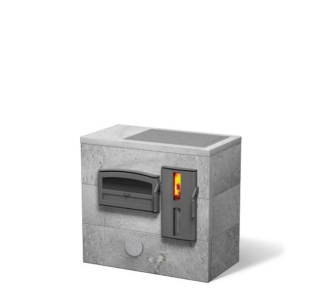 Warmteopslagkachel met kookplaat | NunnaUuni
