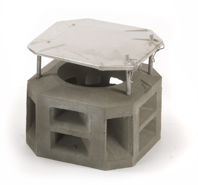 PaH-flex betonkappen schoorsteen