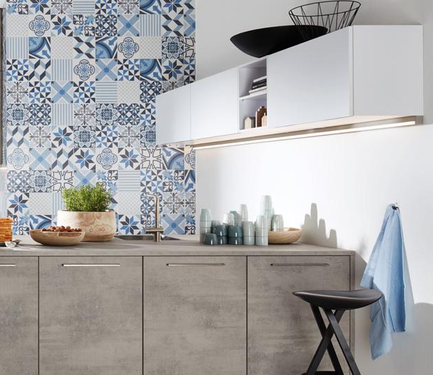 Onderhoudsvriendelijke keuken met betonlook