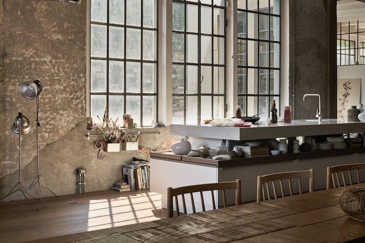 Design keuken met zwevend werkblad