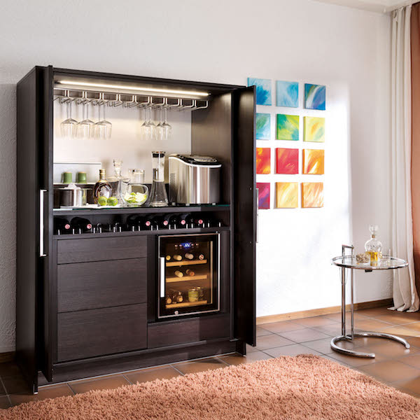 Poggenpohl stage kast bar ontbijt product in beeld for Mueble bar ikea