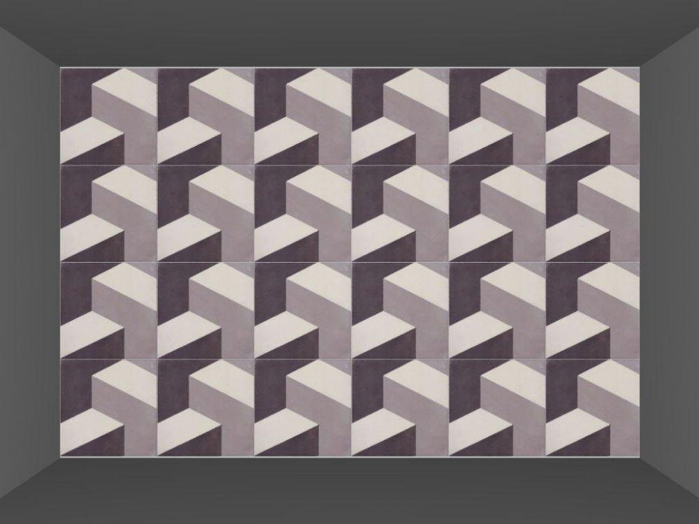 Portugese cementtegels ESCHER TRIUM 01