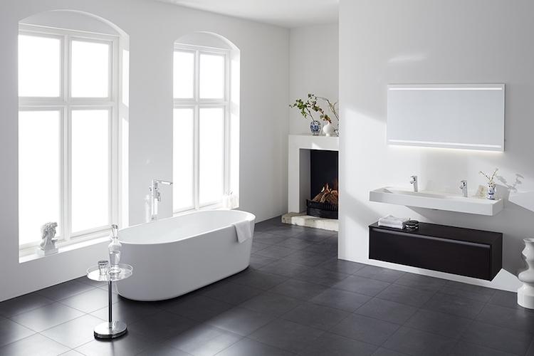 Droom badkamer in zwart en wit