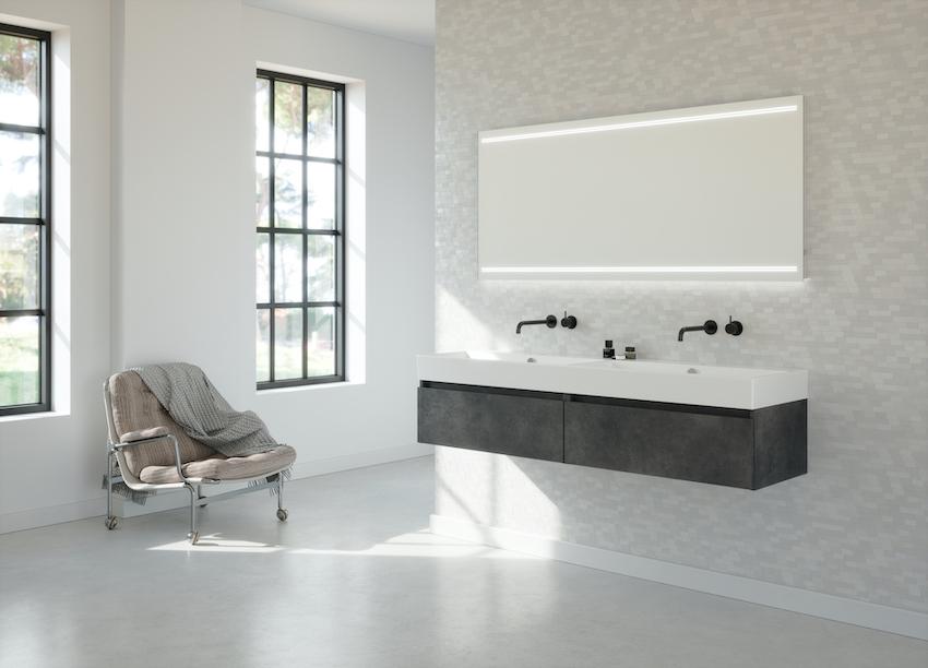 Keramisch wastafelblad met opstaande rand | Primabad