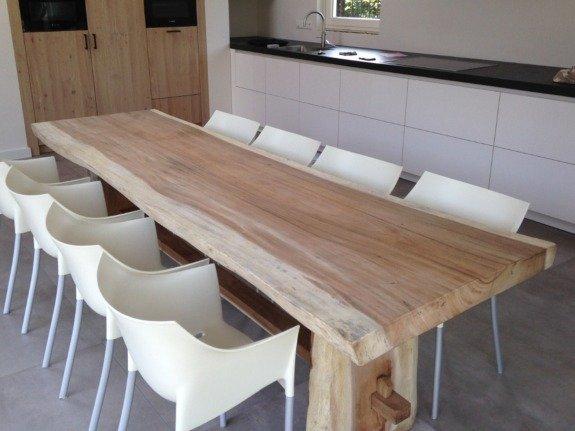 Suar hout boomstamtafel | Puurteak