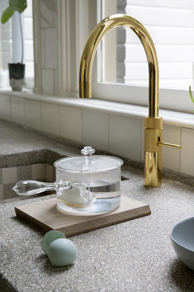 Gouden kokendwaterkraan