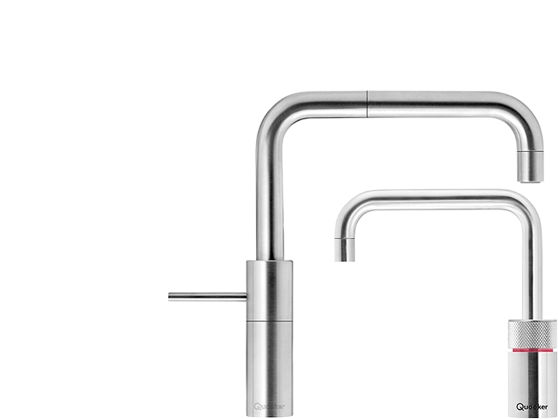 Quooker Twintap Nordic Square Steel