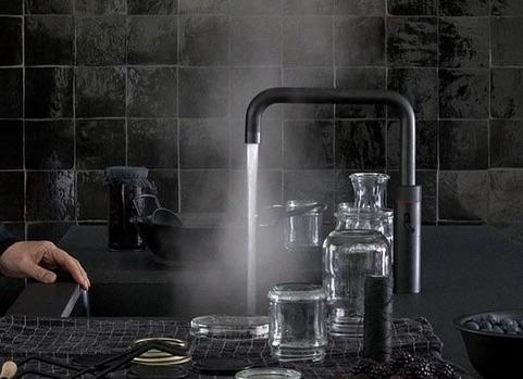 Mat Zwarte Kranen : Quooker zwart kranen product in beeld startpagina voor keuken