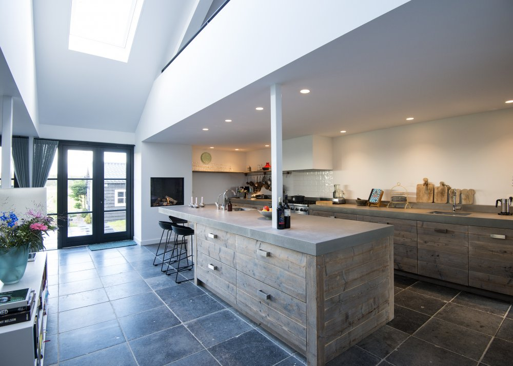 Luxe Design Keuken : Restylexl moderne luxe steigerhouten keuken met beton product in