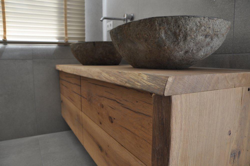 Restylexl combinatie eiken badkamermeubel product in beeld startpagina voor badkamer idee n - Foto badkamer meubels ...