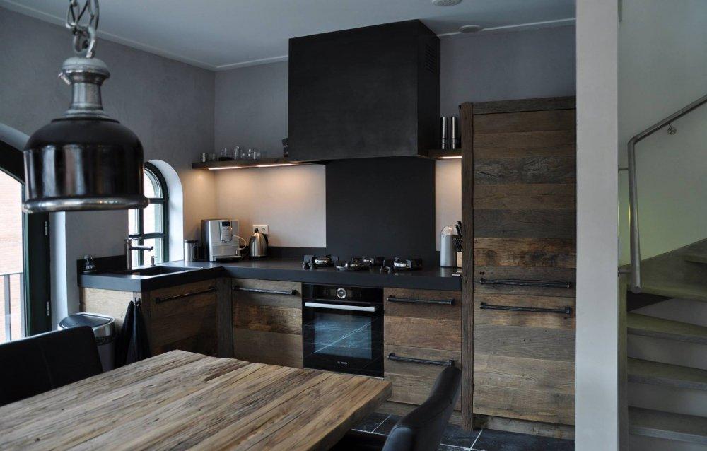 Blauwstaal Keuken : keuken oud eikenhout – Product in beeld – Startpagina voor keuken