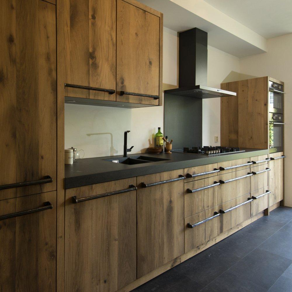Restylexl keuken van geschaafd oud eiken product in beeld startpagina voor keuken idee n - Deco keuken oud land ...