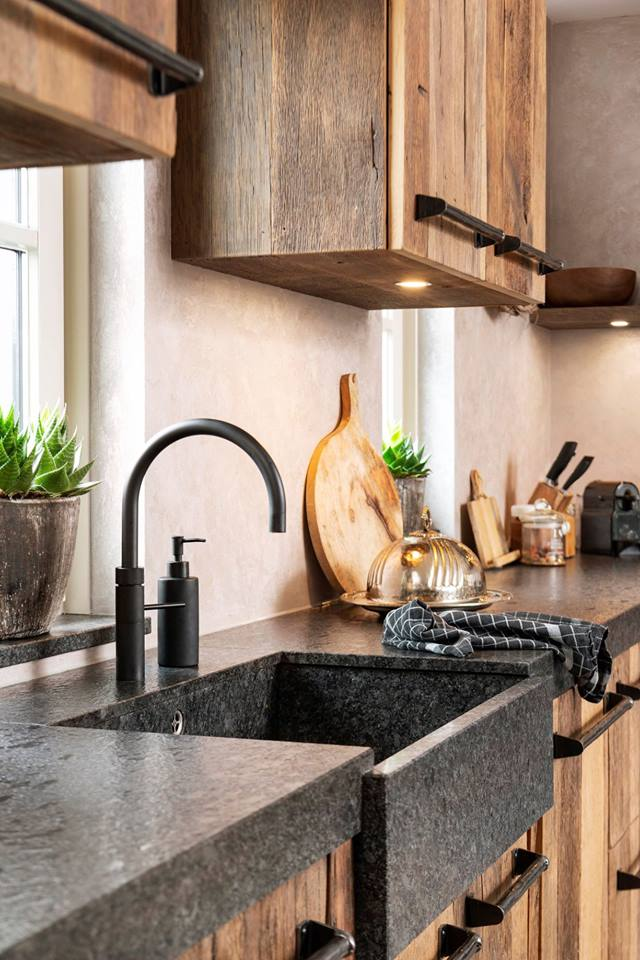 Massief oud hout keuken | RestyleXL