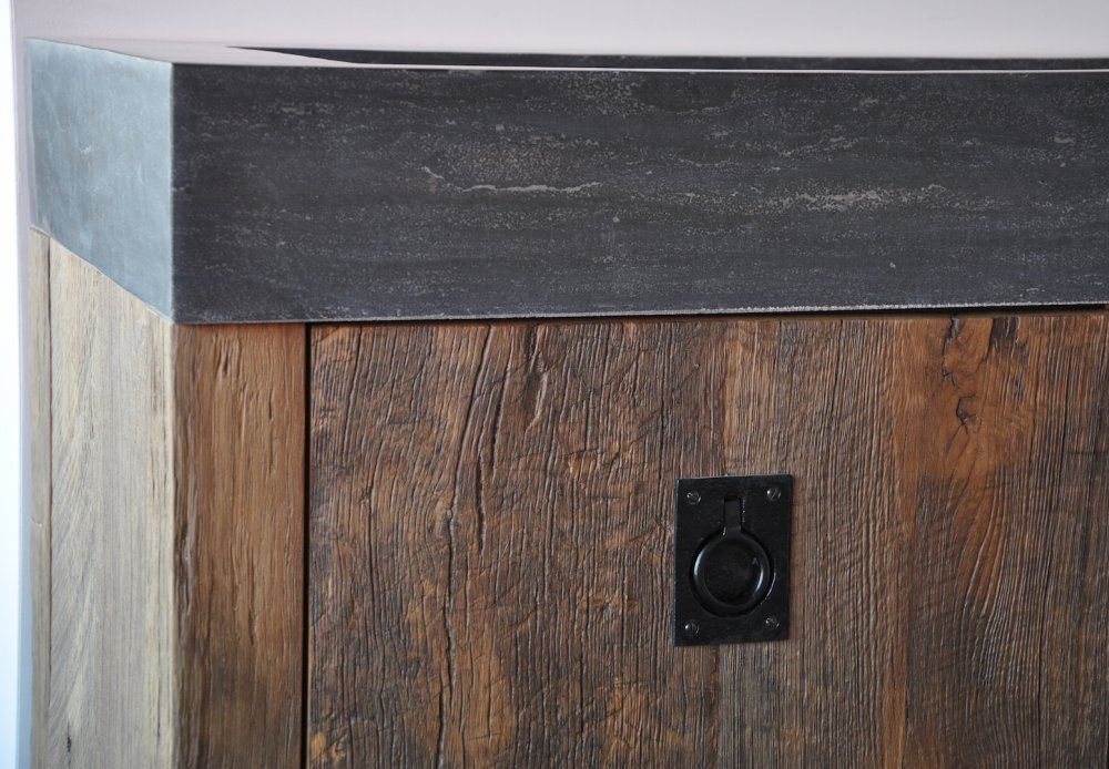 restylexl oud eiken badkamermeubel product in beeld